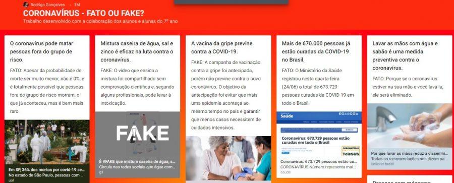 Coronavírus: fato ou fake?